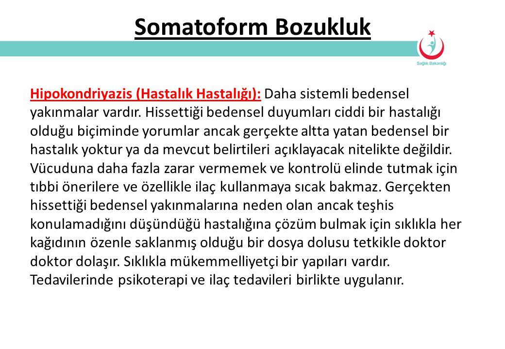 Somatoform Bozukluk