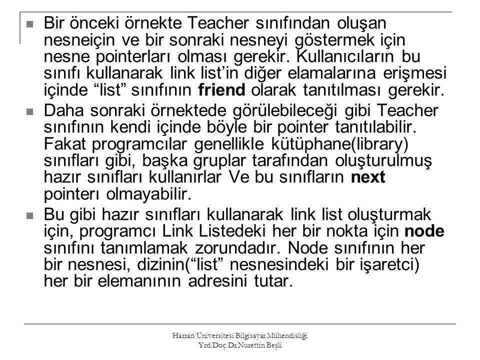 Harran Üniversitesi Bilgisayar Mühendisliği Yrd.Doç.Dr.Nurettin Beşli