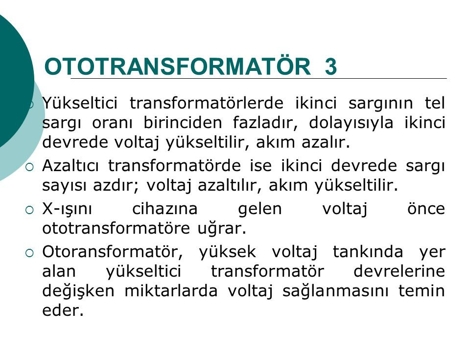 OTOTRANSFORMATÖR 3