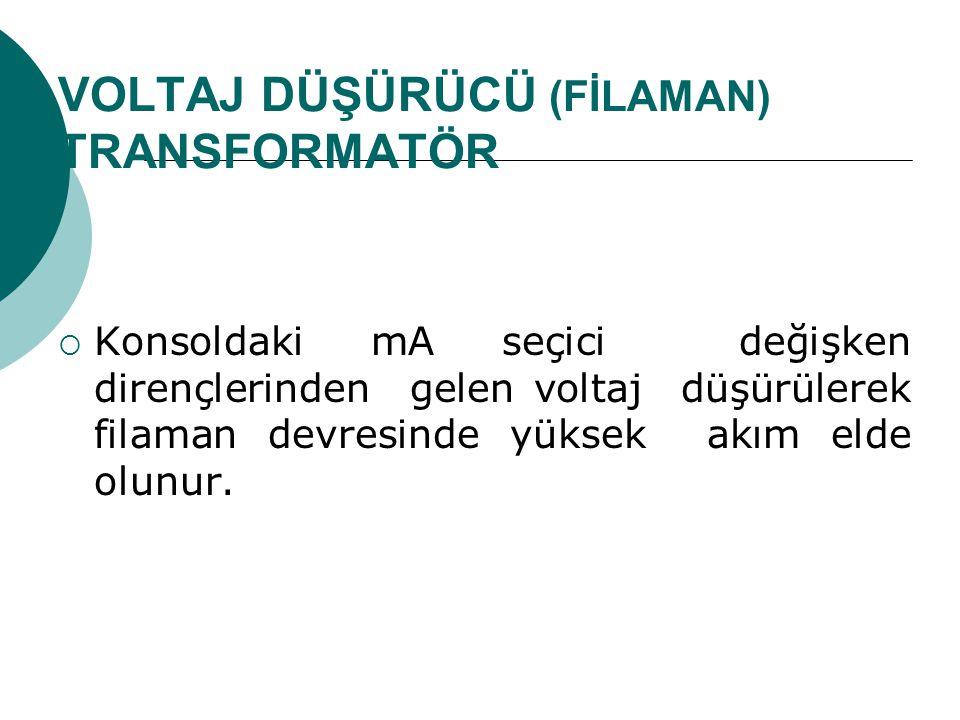 VOLTAJ DÜŞÜRÜCÜ (FİLAMAN) TRANSFORMATÖR