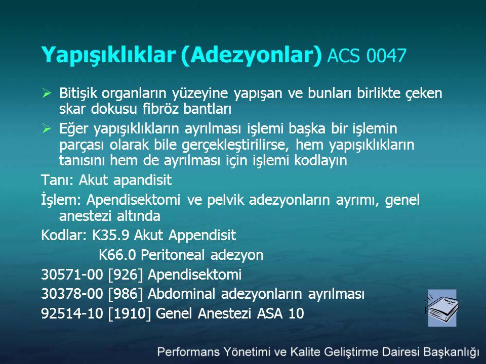 Yapışıklıklar (Adezyonlar) ACS 0047