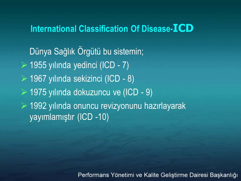 International Classification Of Disease-ICD