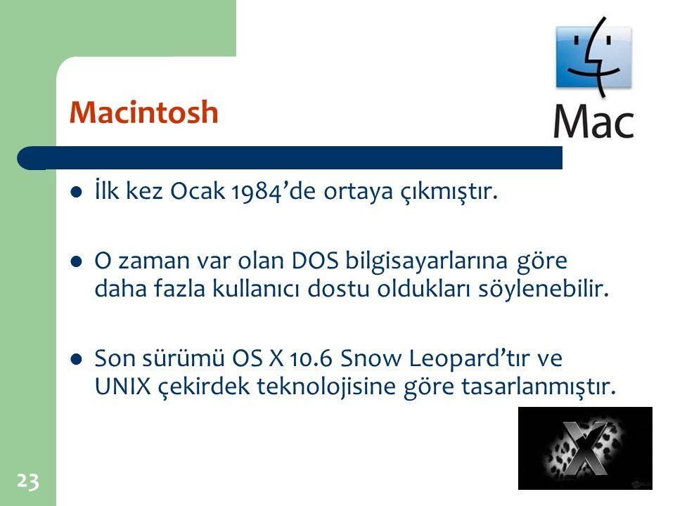 Macintosh İlk kez Ocak 1984'de ortaya çıkmıştır.