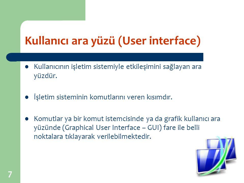 Kullanıcı ara yüzü (User interface)