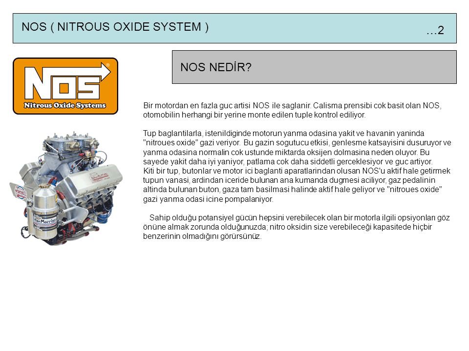 NOS ( NITROUS OXIDE SYSTEM ) …2