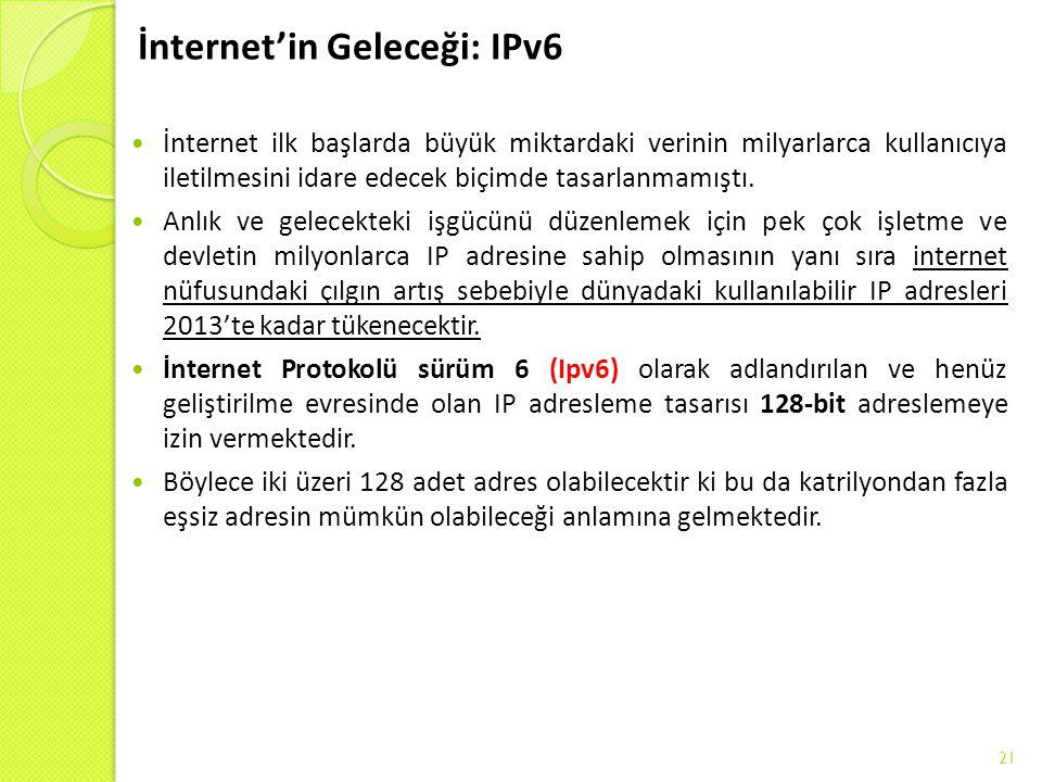 İnternet'in Geleceği: IPv6