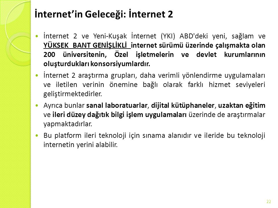 İnternet'in Geleceği: İnternet 2