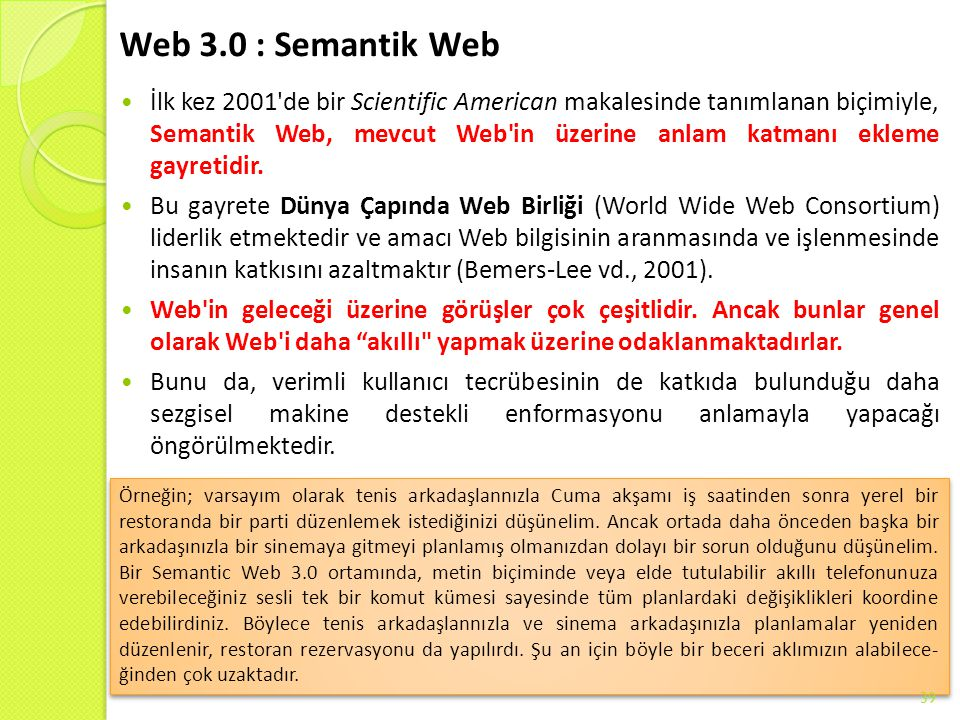 Web 3.0 : Semantik Web