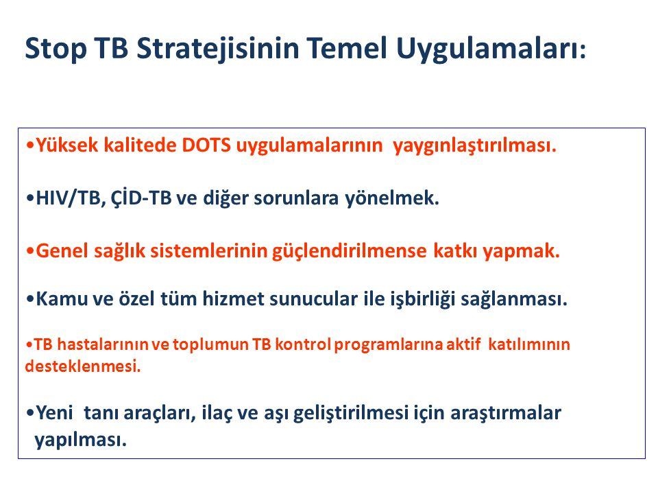 Stop TB Stratejisinin Temel Uygulamaları:
