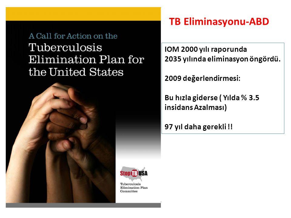 TB Eliminasyonu-ABD IOM 2000 yılı raporunda