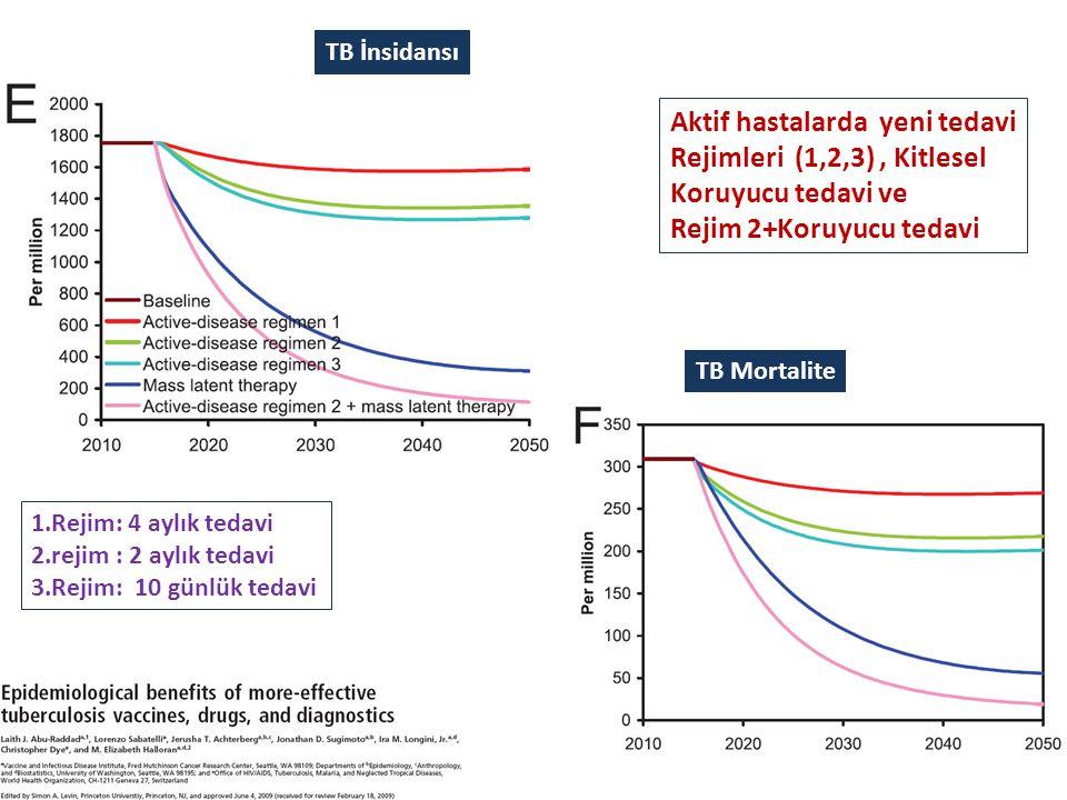 Aktif hastalarda yeni tedavi Rejimleri (1,2,3) , Kitlesel