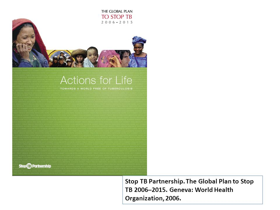 Stop TB Partnership. The Global Plan to Stop TB 2006–2015