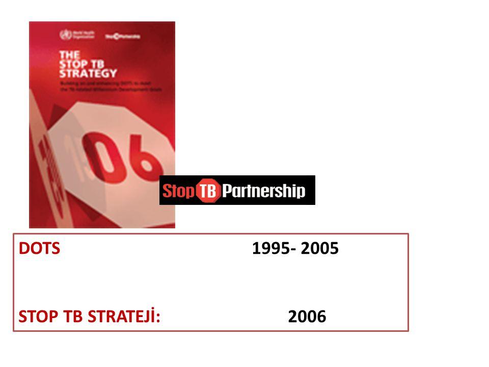 DOTS 1995- 2005 STOP TB STRATEJİ: 2006.