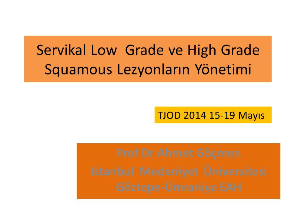 Servikal Low Grade ve High Grade Squamous Lezyonların Yönetimi