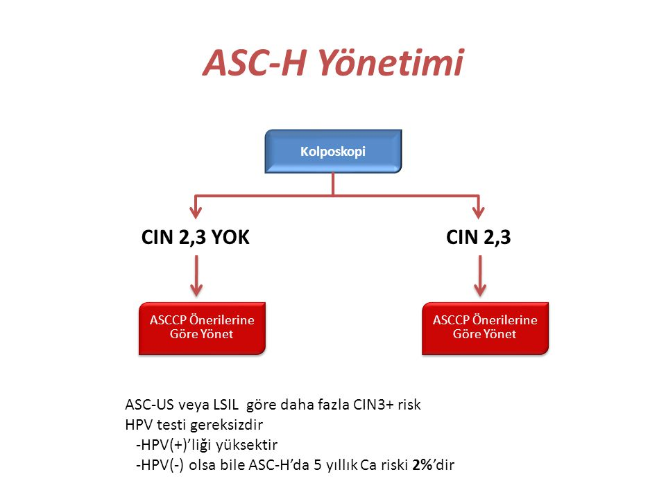 ASC-H Yönetimi CIN 2,3 YOK CIN 2,3