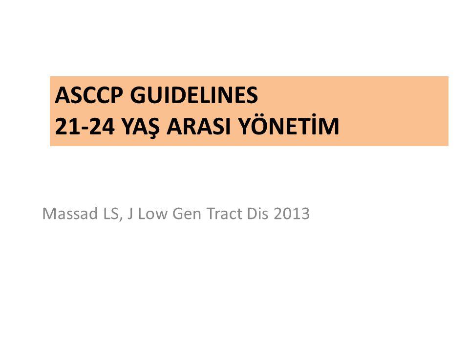 ASCCP Guidelines 21-24 YAŞ ARASI YÖNETİM