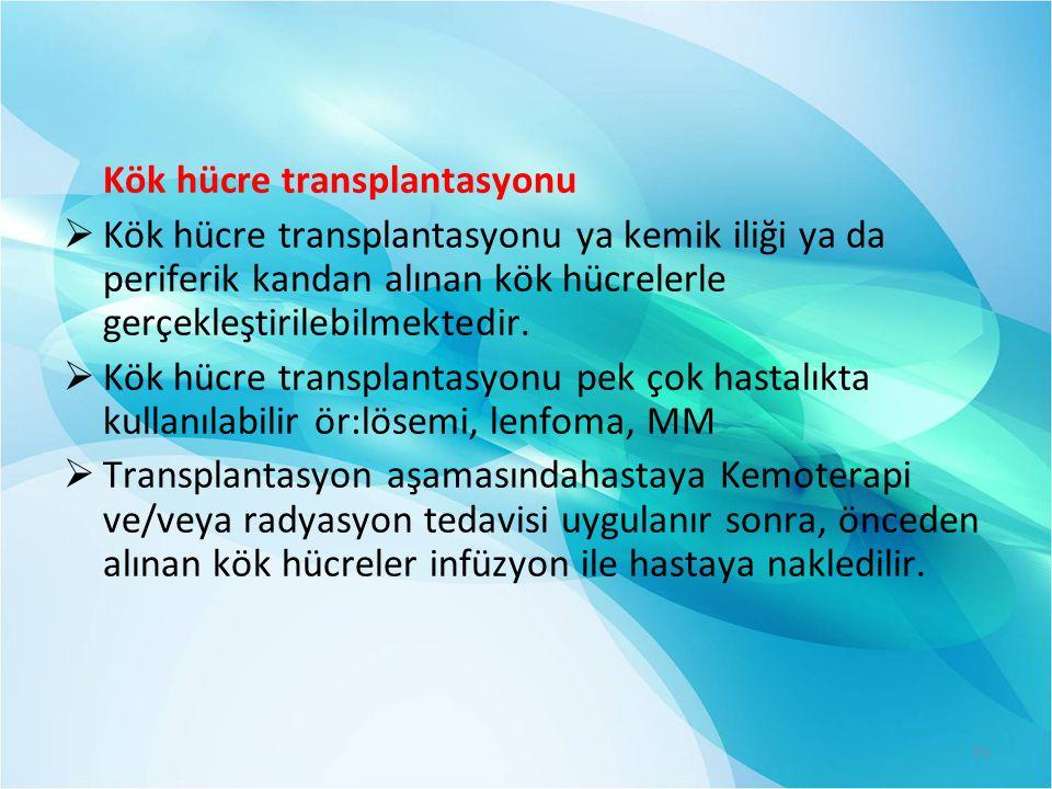Kök hücre transplantasyonu