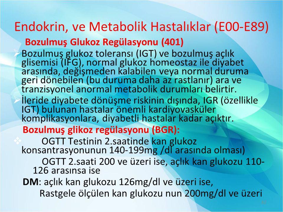 Endokrin, ve Metabolik Hastalıklar (E00-E89)