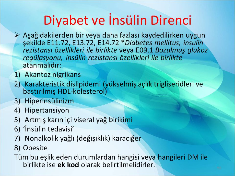 Diyabet ve İnsülin Direnci