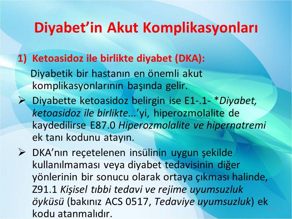 Diyabet'in Akut Komplikasyonları
