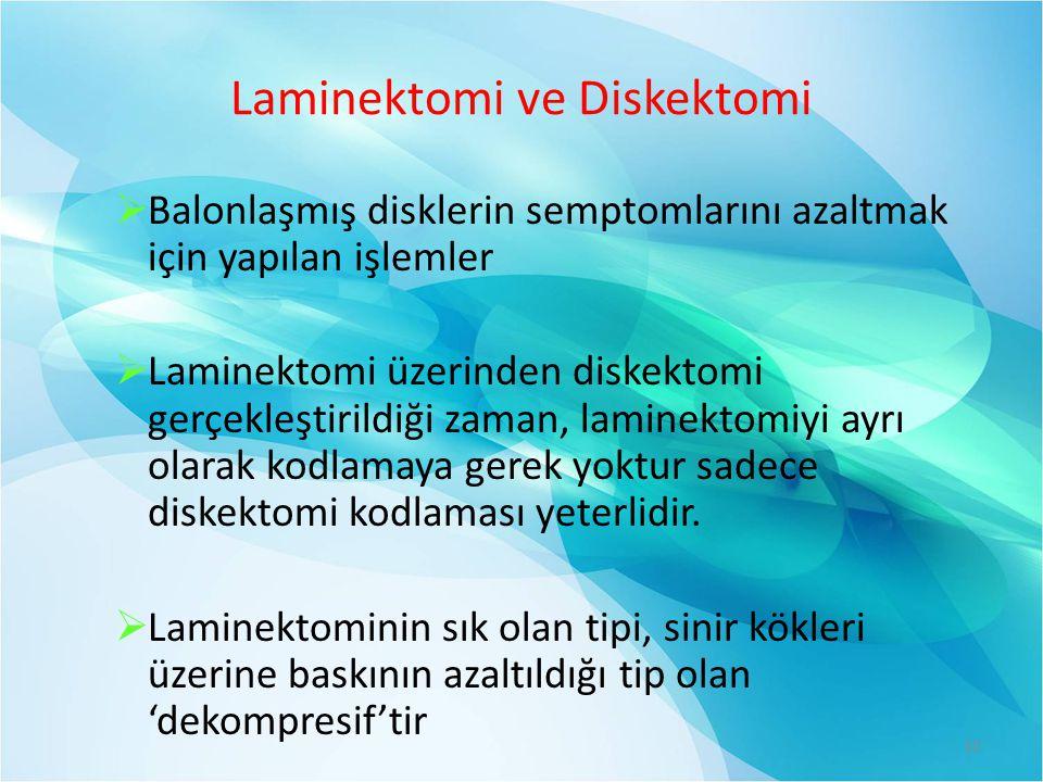Laminektomi ve Diskektomi