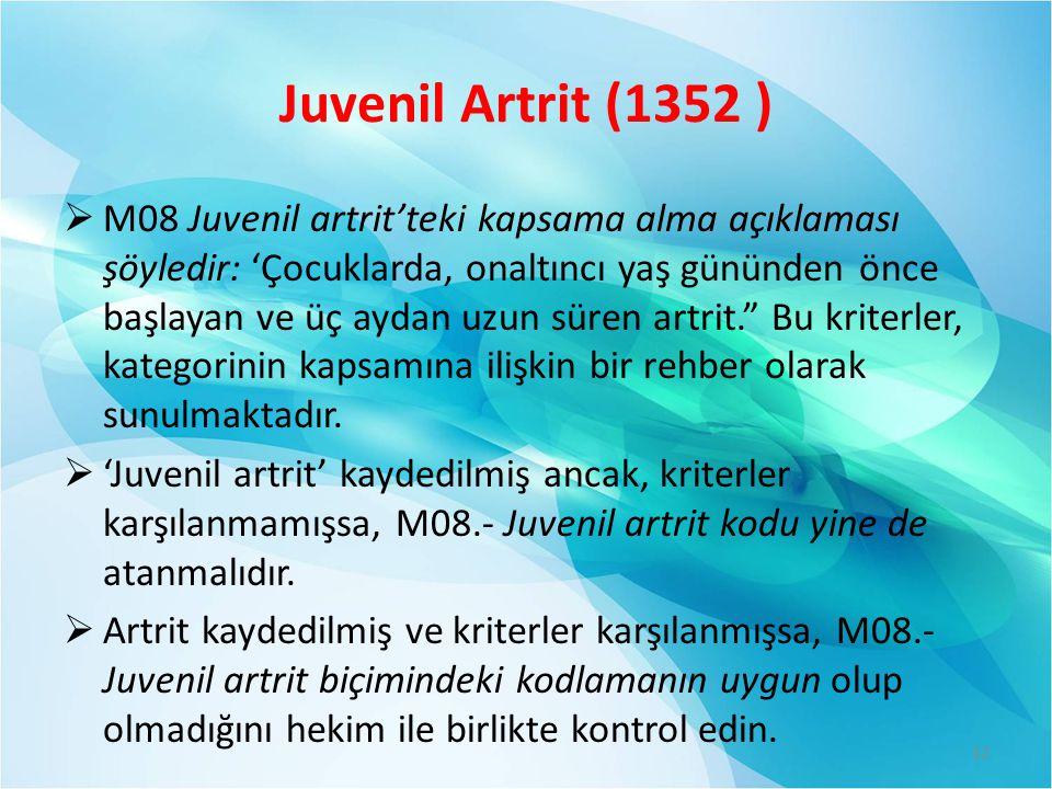 Juvenil Artrit (1352 )