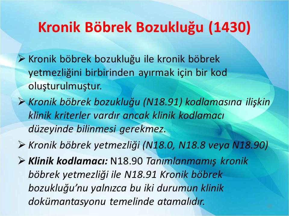 Kronik Böbrek Bozukluğu (1430)