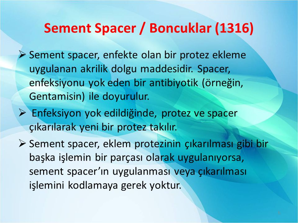 Sement Spacer / Boncuklar (1316)