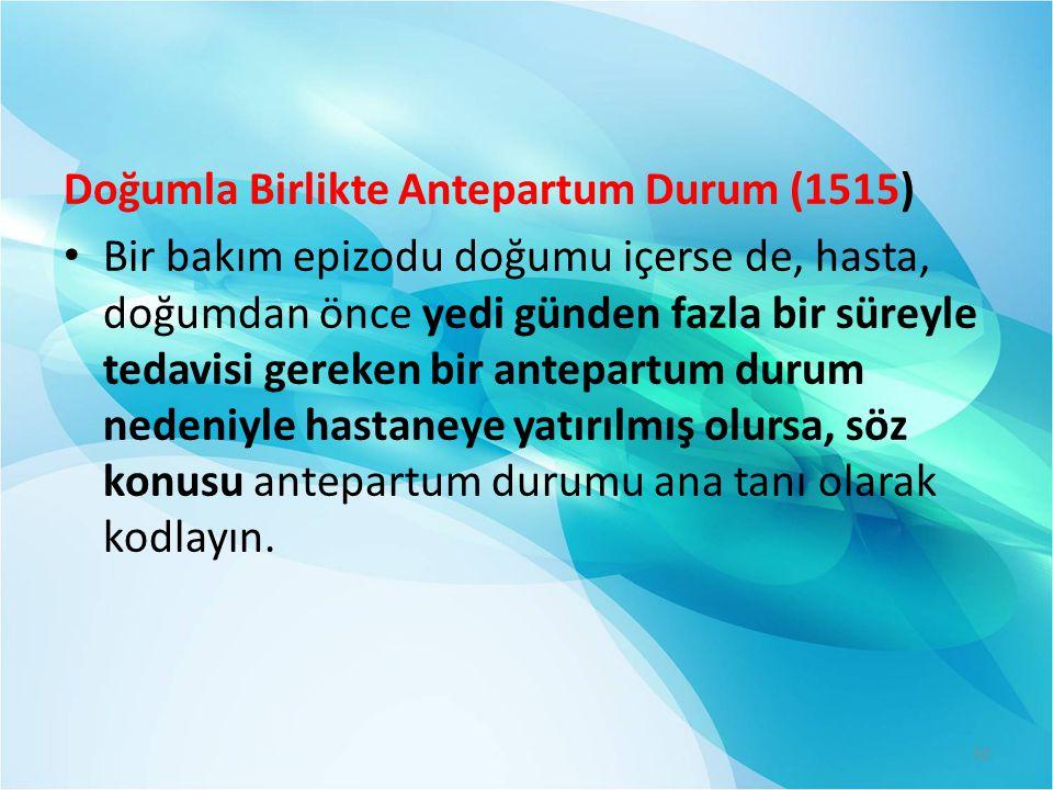 Doğumla Birlikte Antepartum Durum (1515)