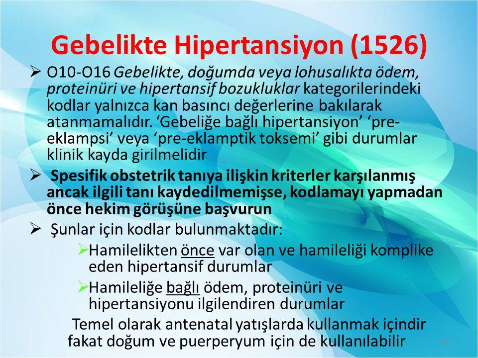 Gebelikte Hipertansiyon (1526)