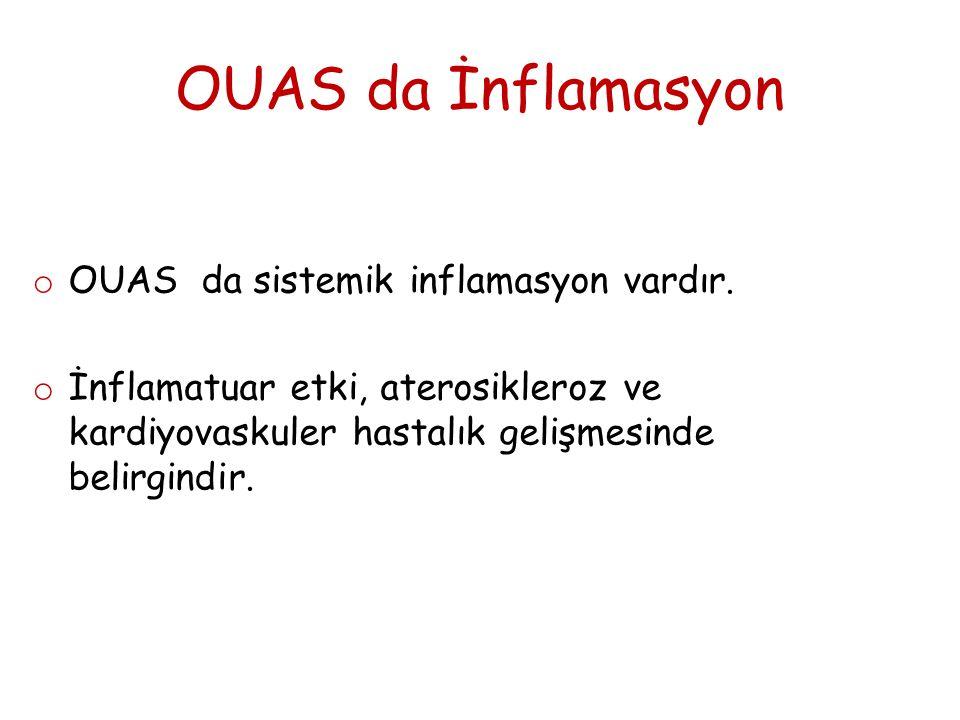 OUAS da İnflamasyon OUAS da sistemik inflamasyon vardır.