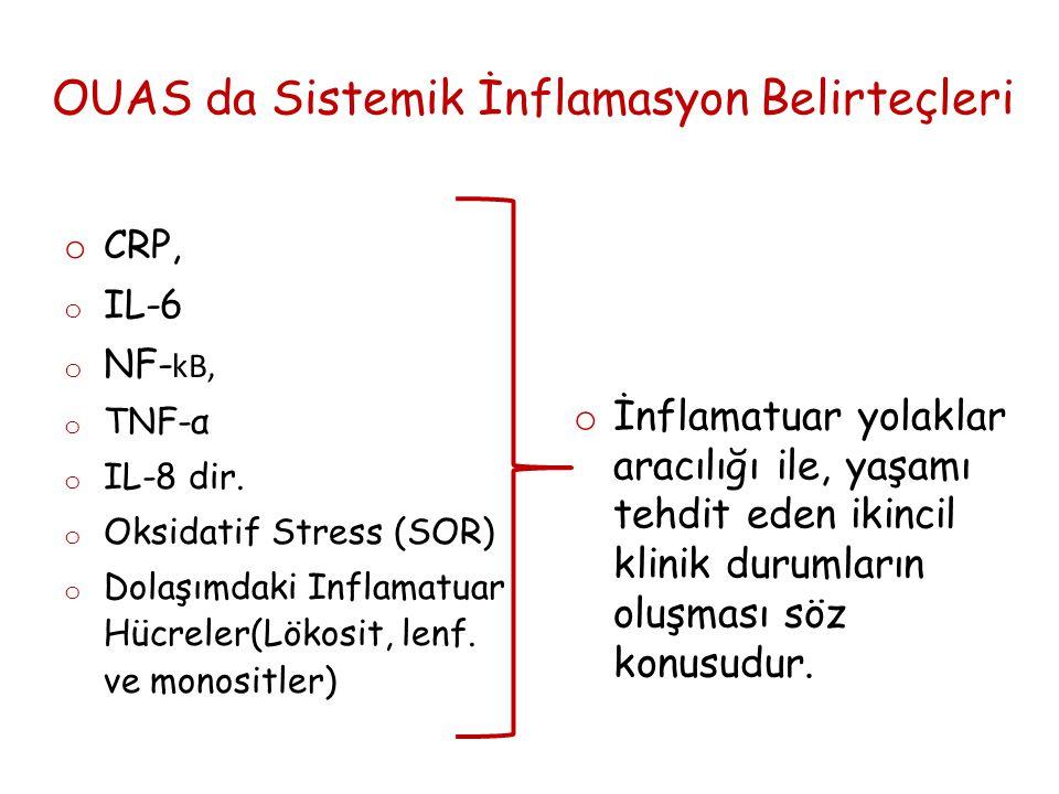 OUAS da Sistemik İnflamasyon Belirteçleri