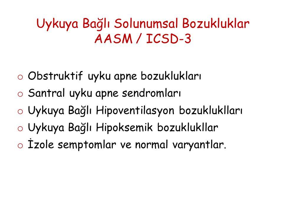 Uykuya Bağlı Solunumsal Bozukluklar AASM / ICSD-3
