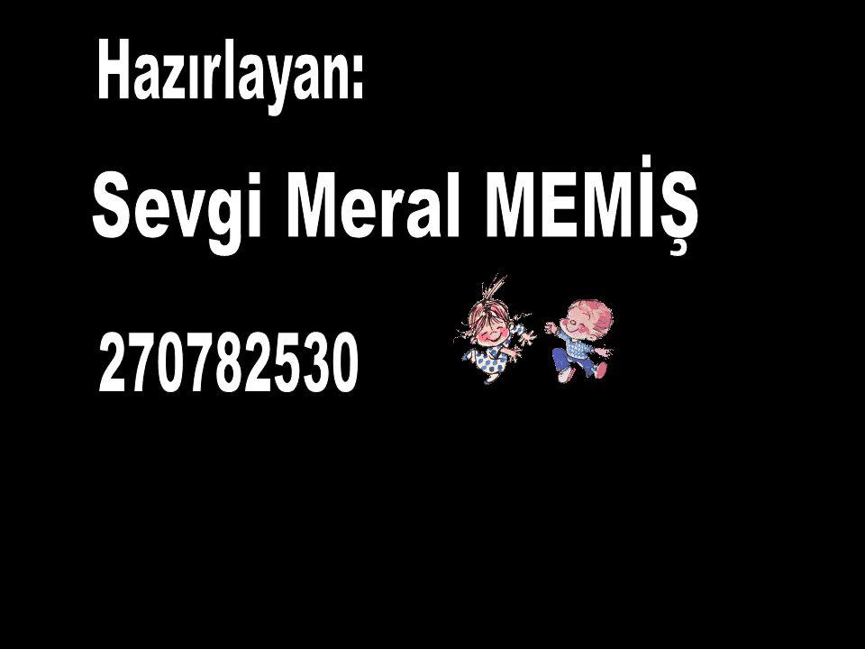 Hazırlayan: Sevgi Meral MEMİŞ 270782530