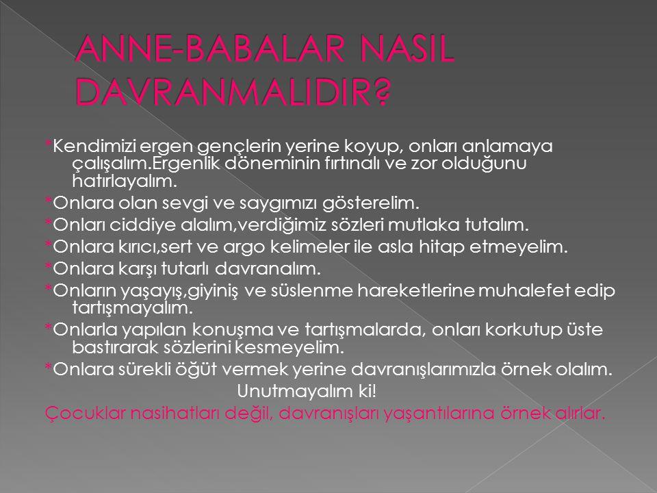 ANNE-BABALAR NASIL DAVRANMALIDIR