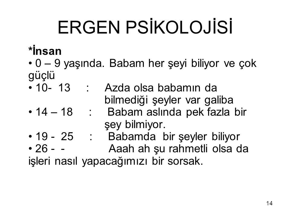 ERGEN PSİKOLOJİSİ
