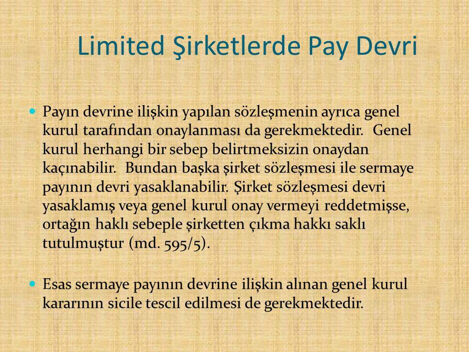 Limited Şirketlerde Pay Devri