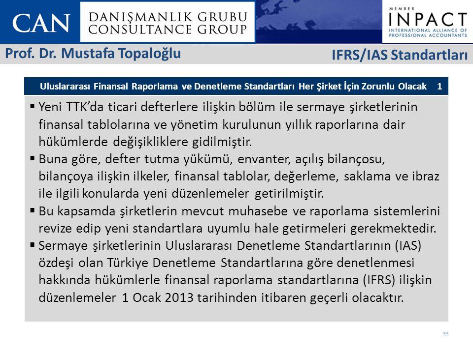Prof. Dr. Mustafa Topaloğlu IFRS/IAS Standartları