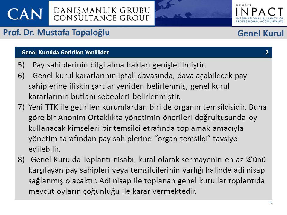 Prof. Dr. Mustafa Topaloğlu Genel Kurul