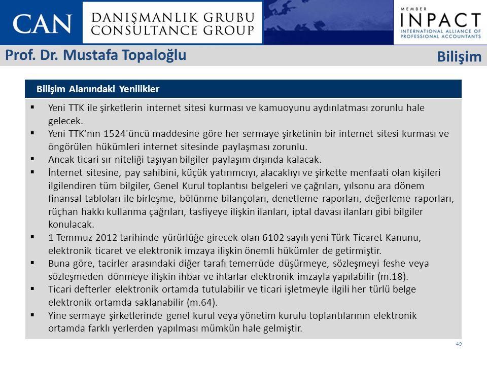 Prof. Dr. Mustafa Topaloğlu Bilişim