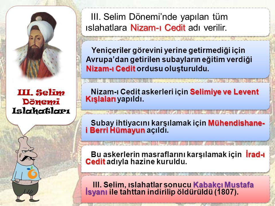 III. Selim Dönemi Islahatları