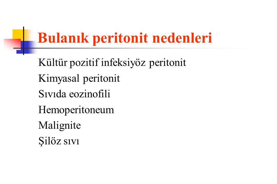 Bulanık peritonit nedenleri