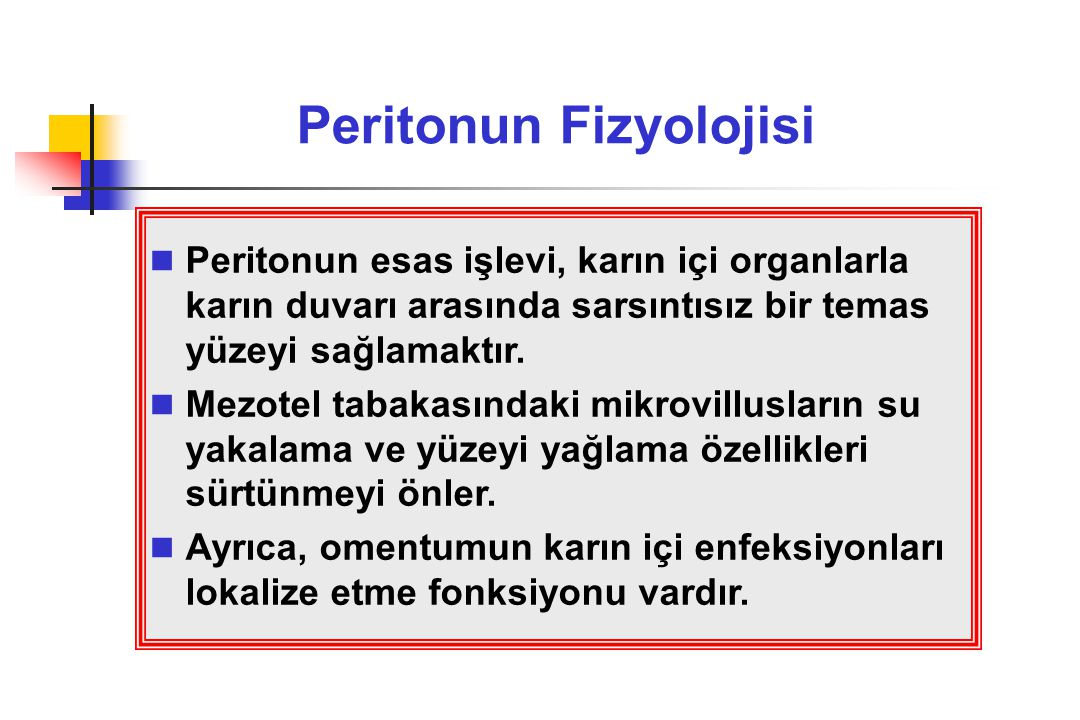 Peritonun Fizyolojisi