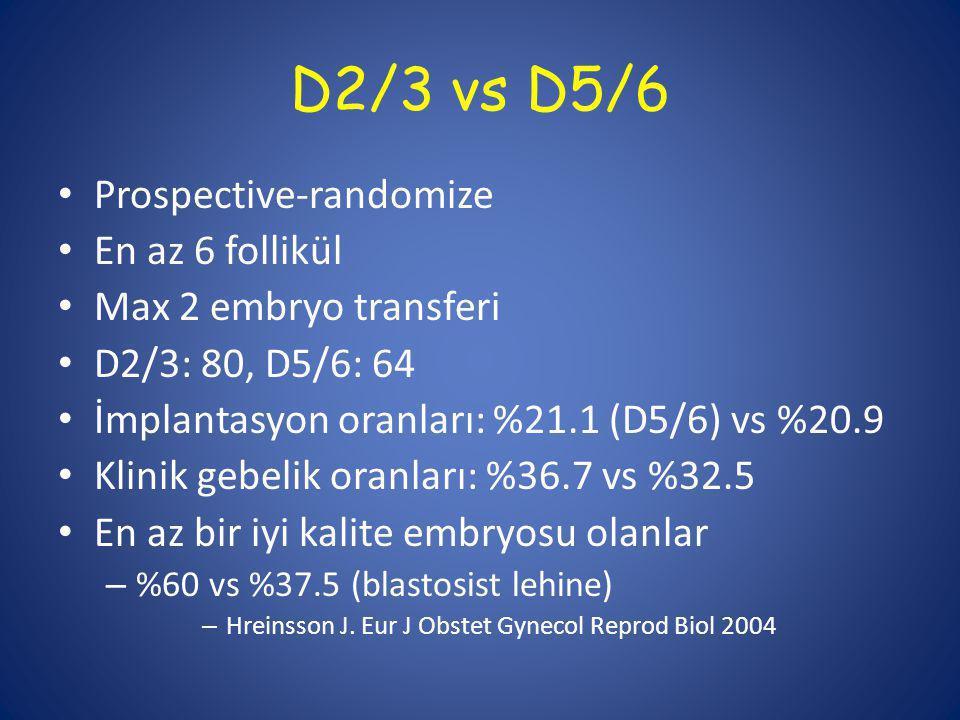 D2/3 vs D5/6 Prospective-randomize En az 6 follikül