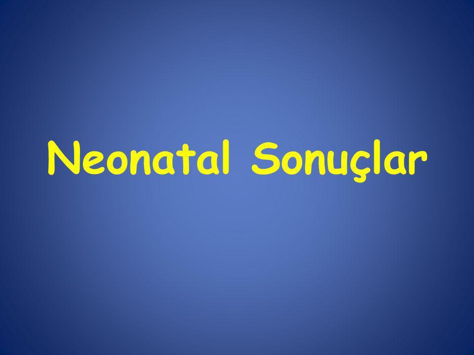 Neonatal Sonuçlar