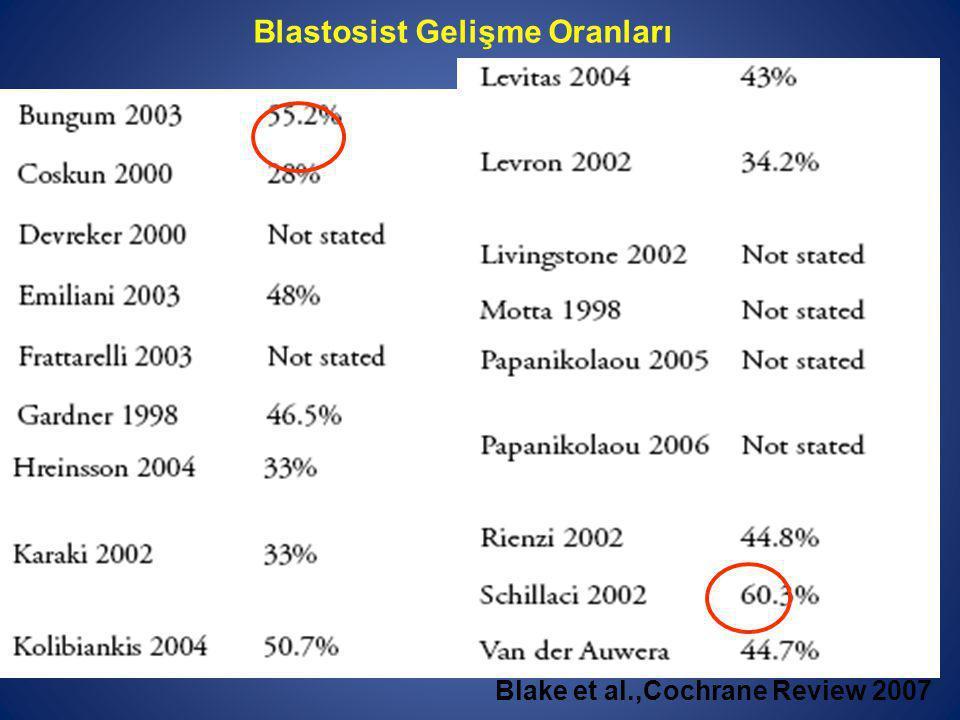 Blastosist Gelişme Oranları