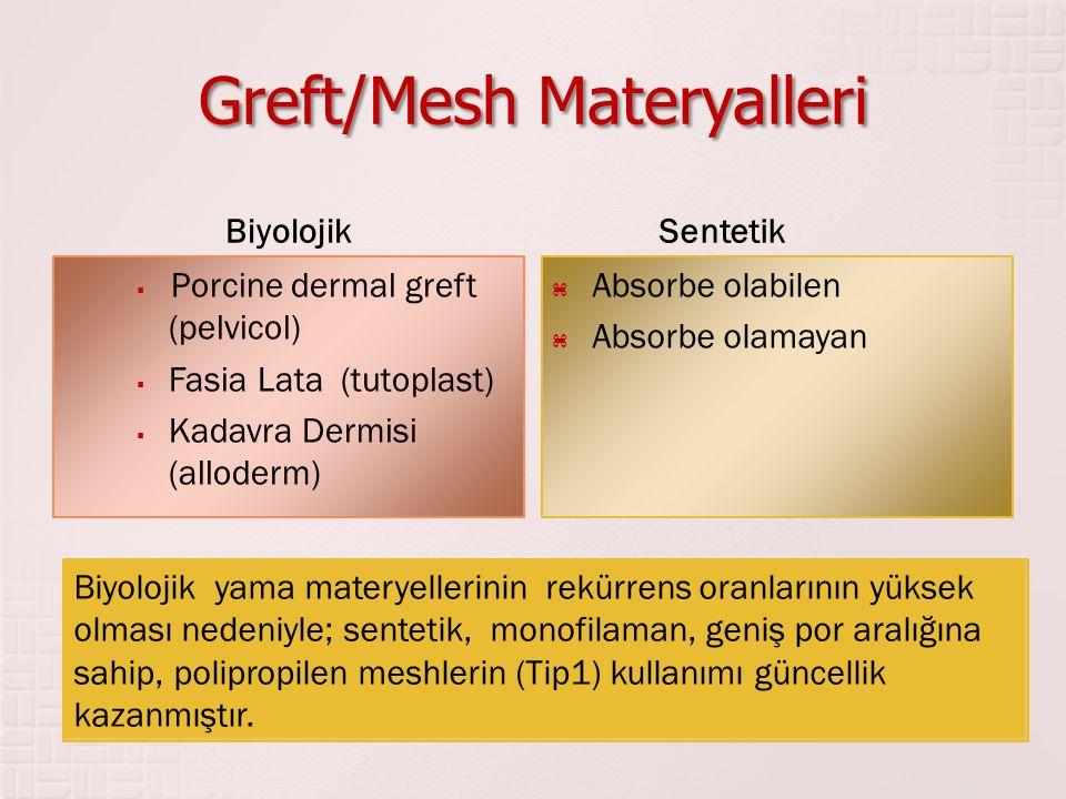 Greft/Mesh Materyalleri