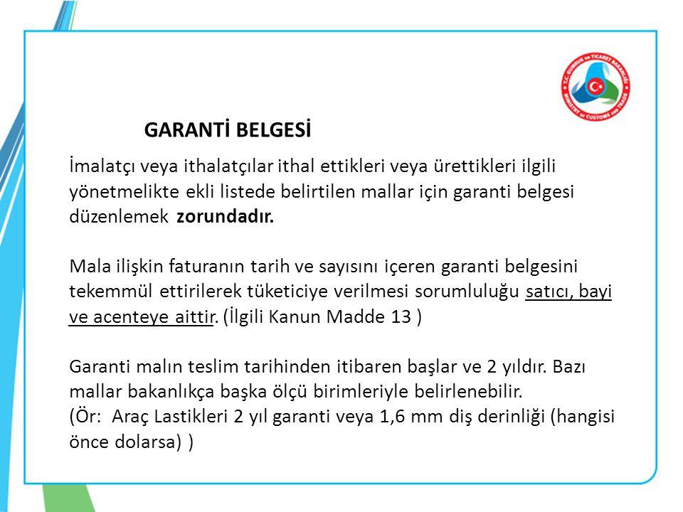 GARANTİ BELGESİ