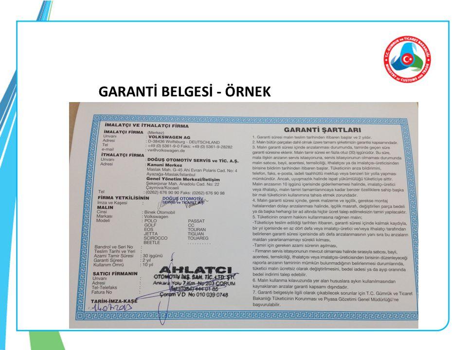GARANTİ BELGESİ - ÖRNEK