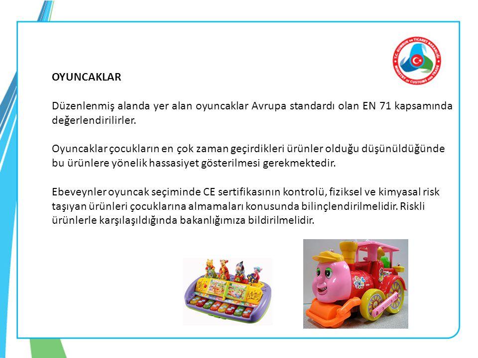 OYUNCAKLAR Düzenlenmiş alanda yer alan oyuncaklar Avrupa standardı olan EN 71 kapsamında değerlendirilirler.